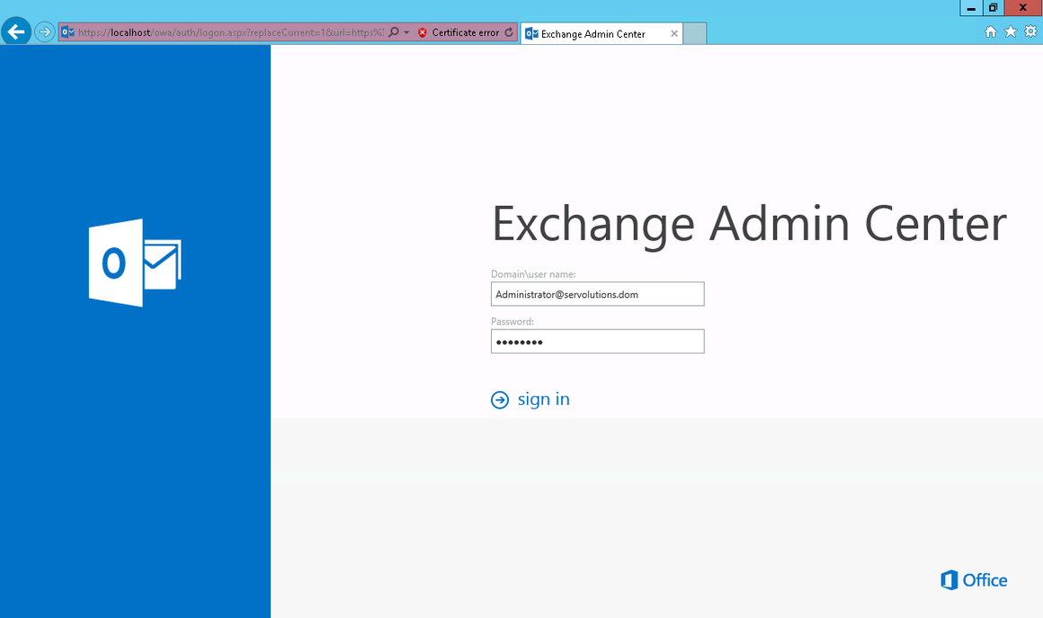 Mailsystem Exchange Server