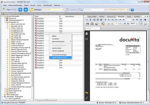 Flexibles und skalierbares Dokumentenmanagement-System docuvita