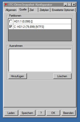 DriveSnapshot- Konfigurator